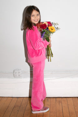 Kid's Track Pants - Hot Pink