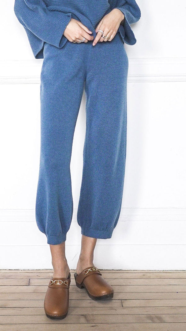 High Waist Harem Pants - Aegean
