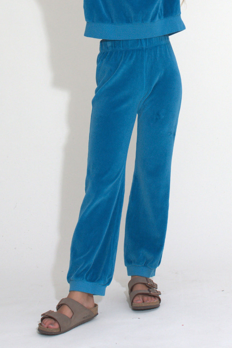 Kid's Track Pants - Aegean Velour