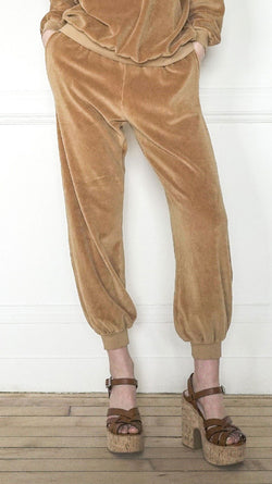High Rise Pocket Pants - Camel