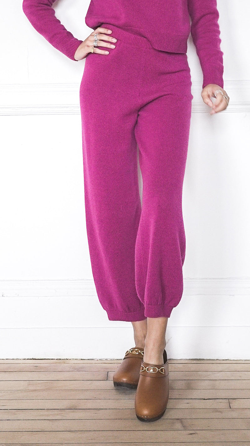 High Waist Harem Pants - Cerise