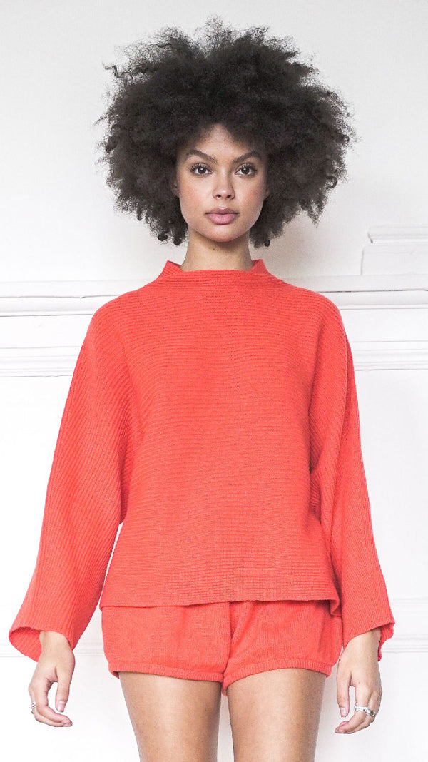 Funnel Neck Sweater - Clementine