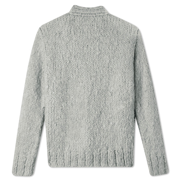 Cropped Cardigan - Light Grey