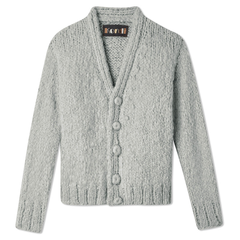 Cropped Cardigan - Dove Grey