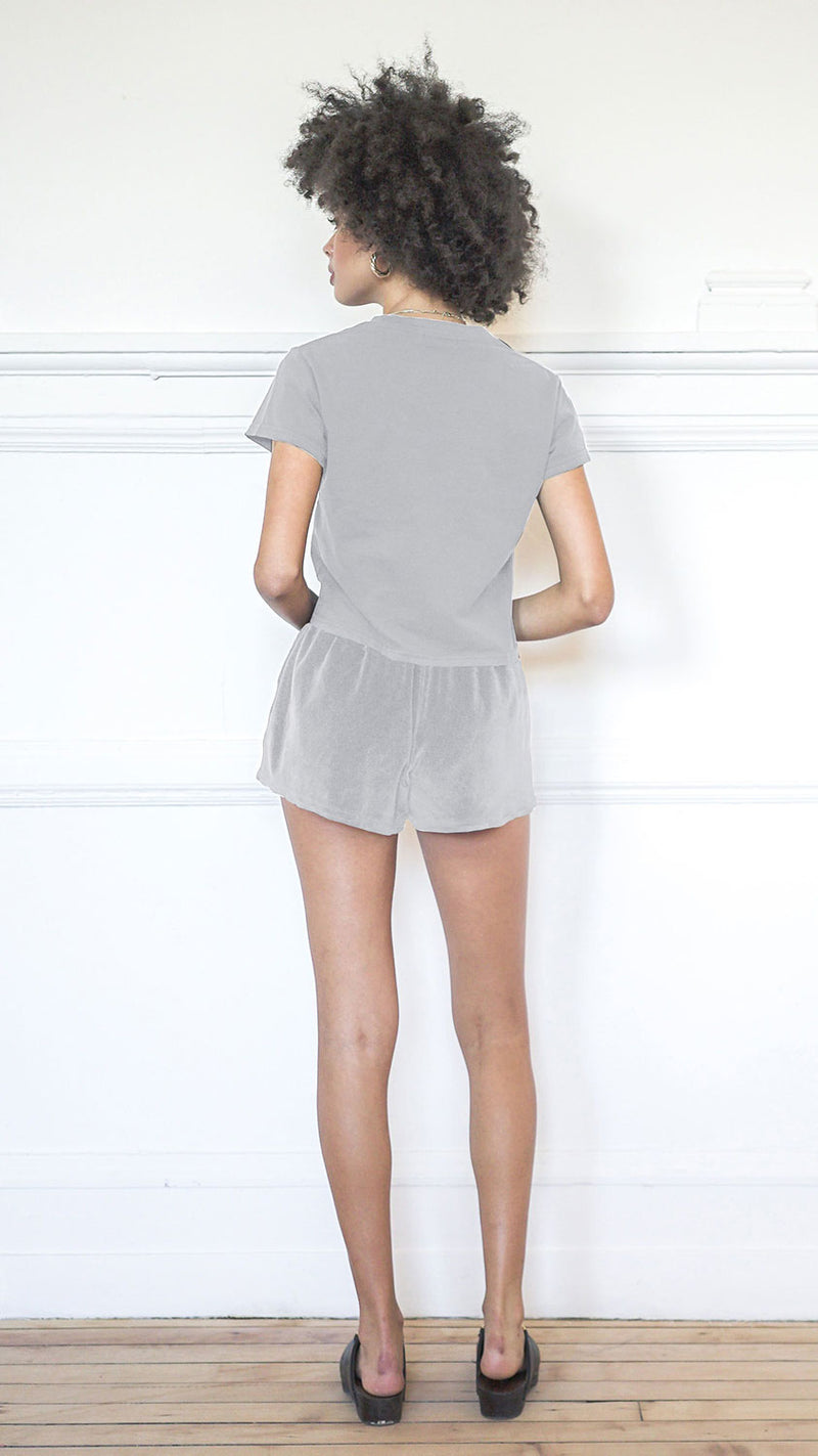 Cropped T-Shirt - Dove Grey