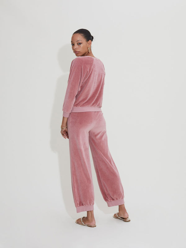 High Waist Harem Pants - Fall Desert Rose