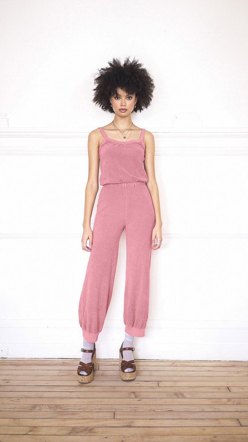Tank Jumpsuit - Desert Rose