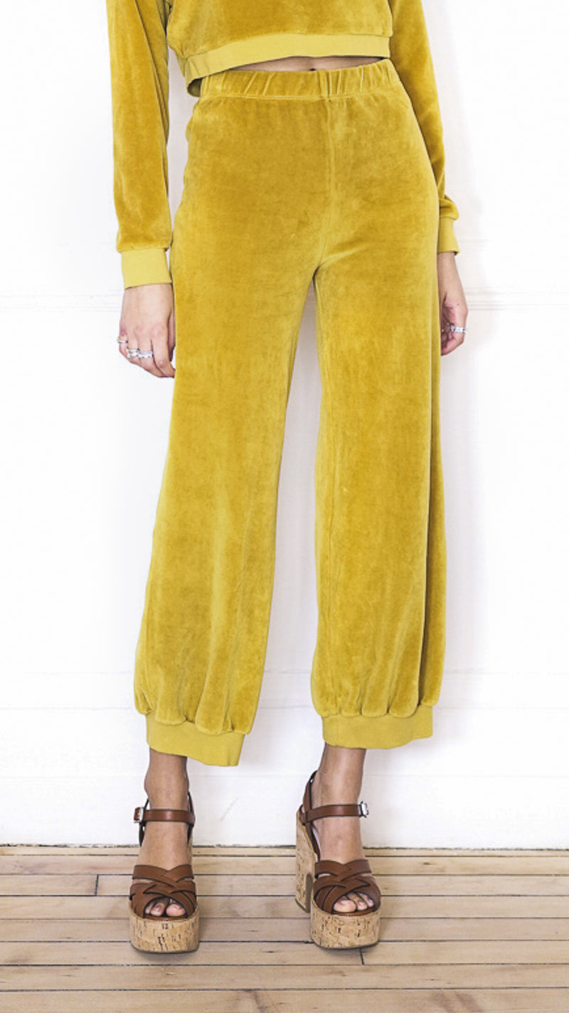 High Waist Harem Pants - Gold