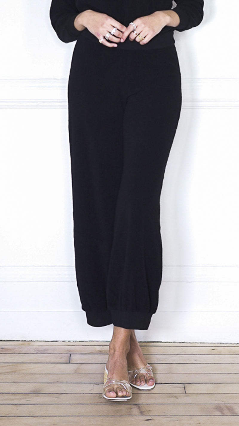 High Waist Harem Pants - Black
