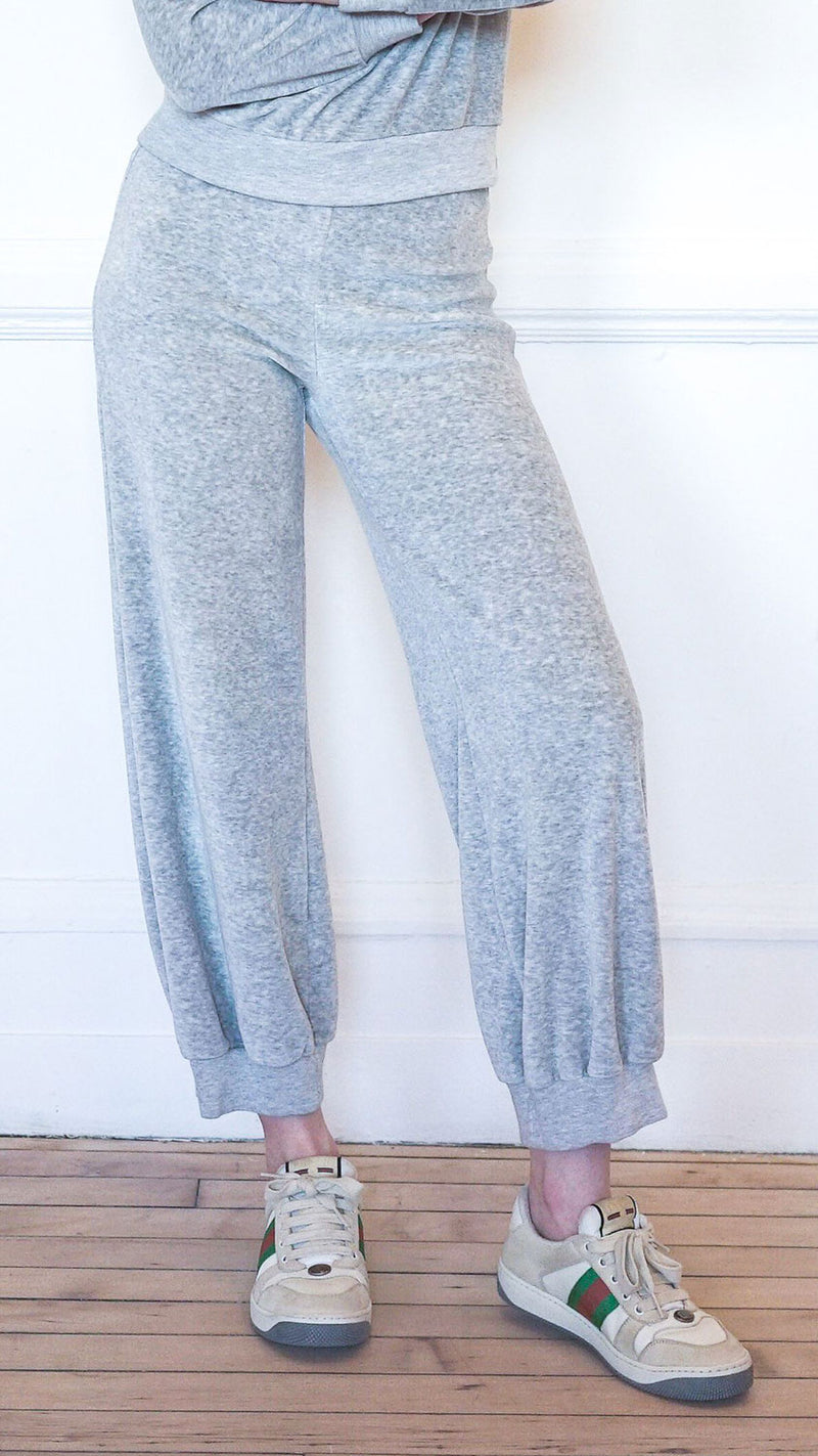 High Waist Harem Pants - Grey Marle