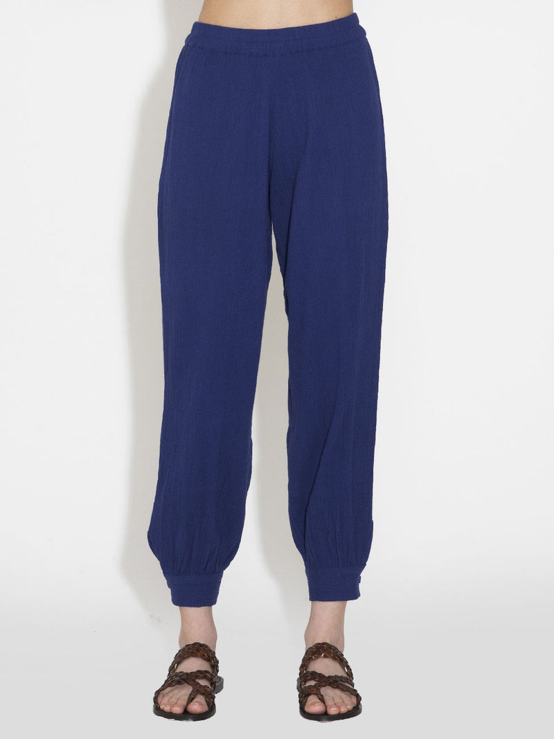 The Button Cuff Harem Pants in Gauze