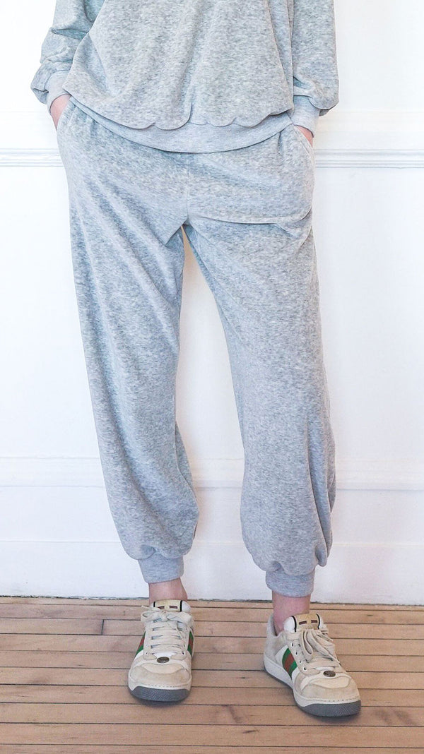 High Rise Pocket Pants - Grey Marle