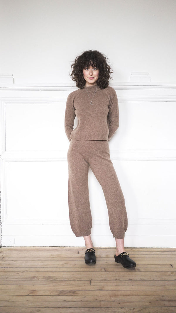 High Waist Harem Pants - Fawn