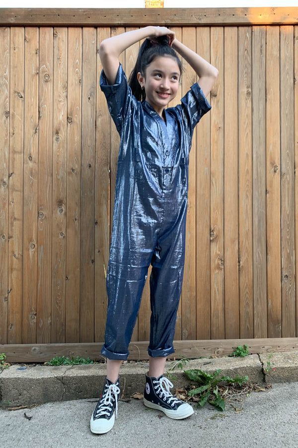 Kid's Utility Jumpsuit - Navy