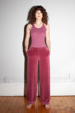 Harem Low Rise Pocket Pants - Dusty Rose
