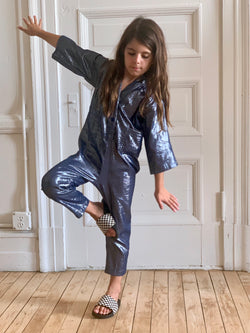 Kid's Utility Jumpsuit - Ebony