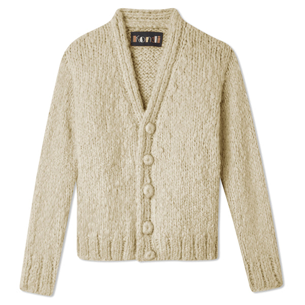 Slim Full-Length Cardigan - Ivory