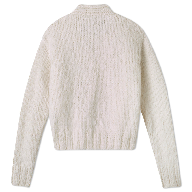 Pre-Order: Cropped Cardigan - Marshmallow