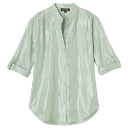 Button Blouse - Seafoam