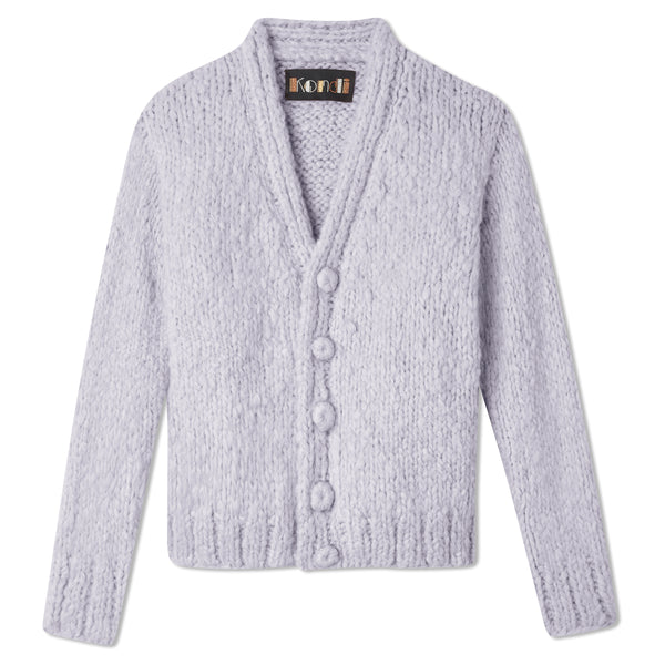 Slim Full-Length Cardigan - Lilac