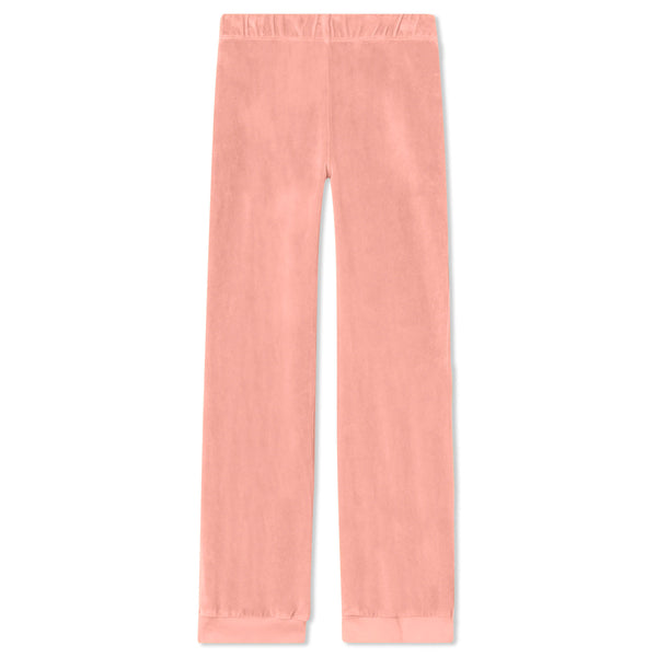 Kids Track Pants - Salmon Velour