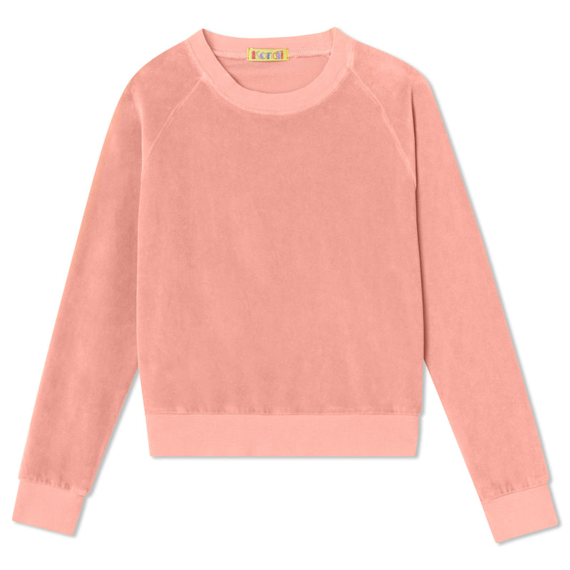 Kids Crew Top - Salmon Velour