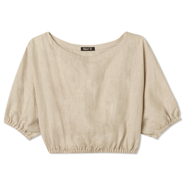 Safari Cropped Top - Natural