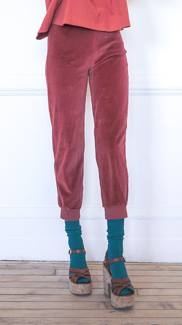 Slim Track Pants - Rust