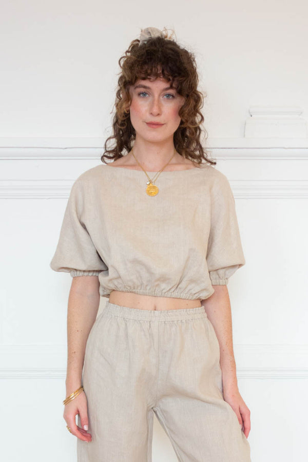 Cropped Safari Top - Natural