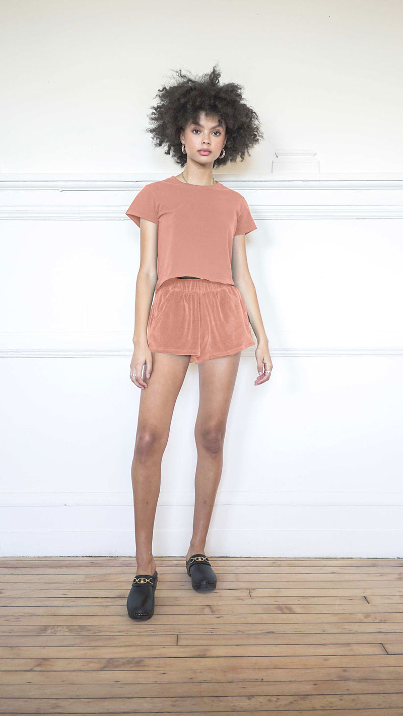 Cropped T-Shirt - Salmon
