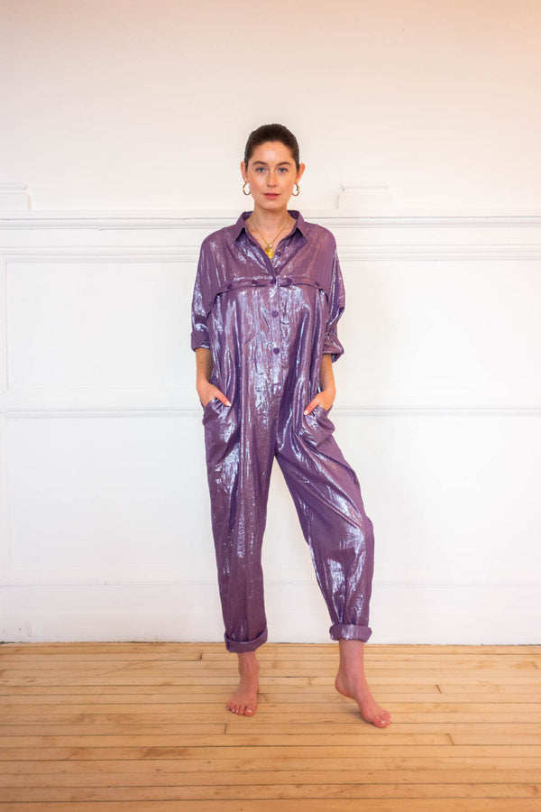Utility Jumpsuit - Deep Purple