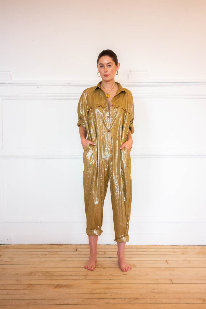 Utility Jumpsuit - Teddy