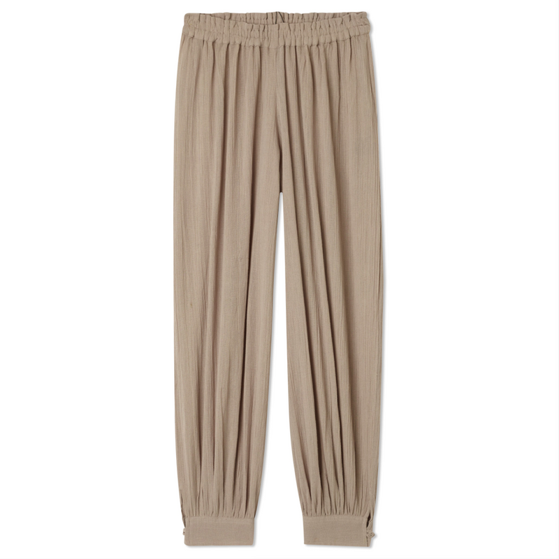 Button Cuff Harem Pants - Mouse