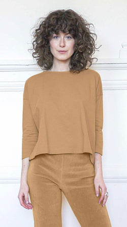 3/4 Sleeve A-Line Shirt - Teddy