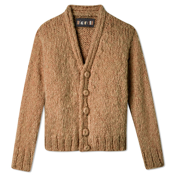 Slim Full-Length Cardigan - Teddy