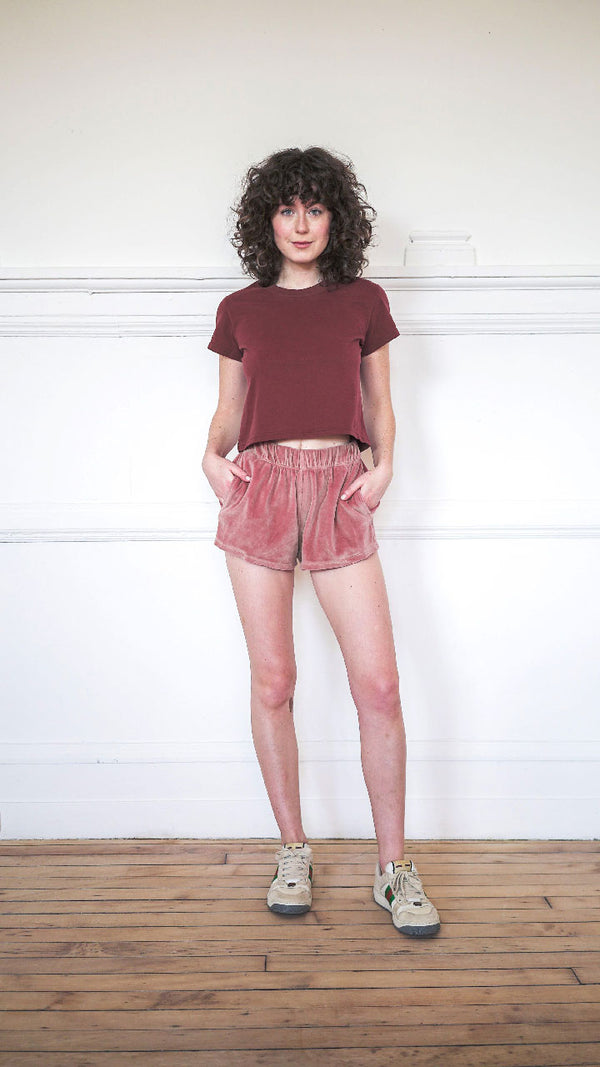 Track Shorts - Fall Desert Rose