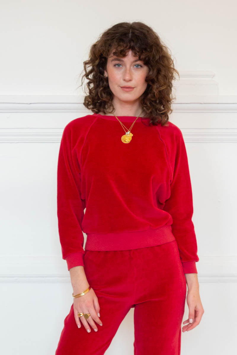 Raglan Top - Crimson