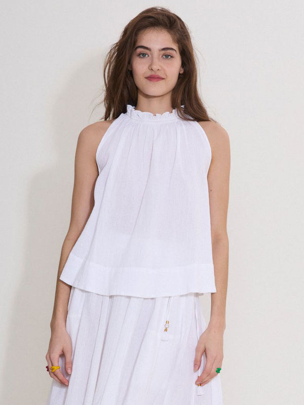 The Sleeveless Halter Top in Gauze