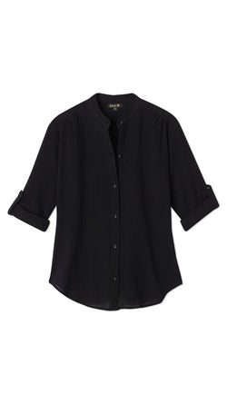 Button Blouse - Coal