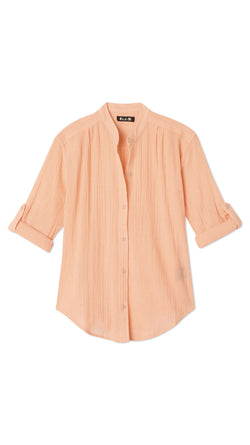 Button Blouse - Salmon