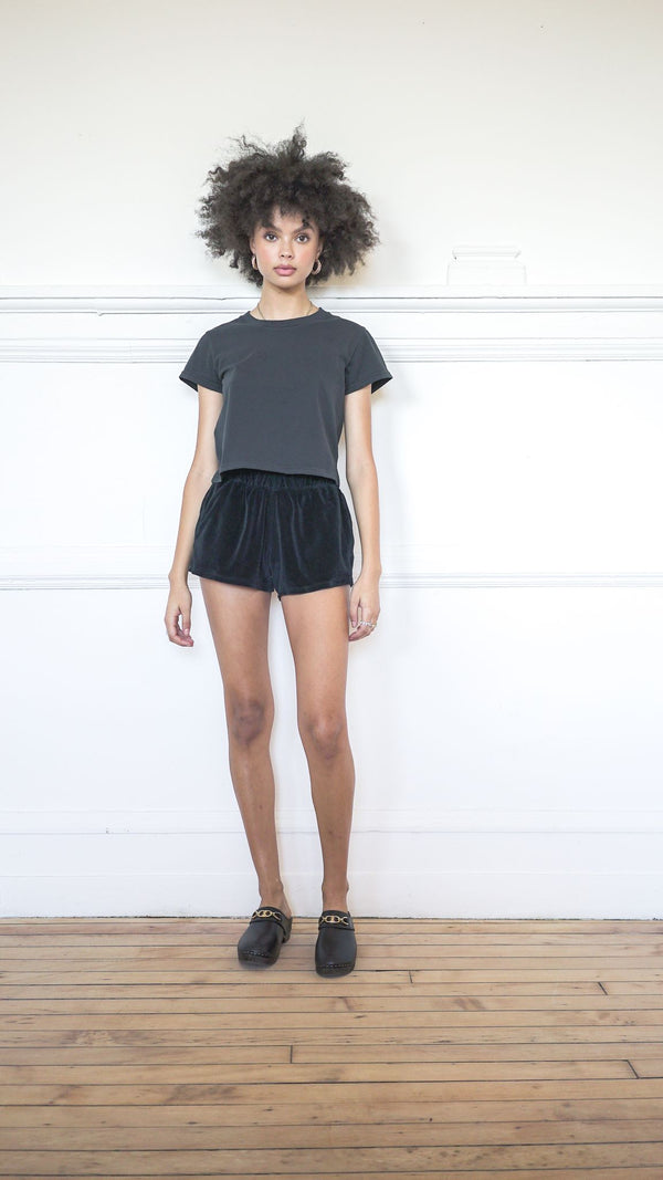 Cropped T-Shirt - Coal