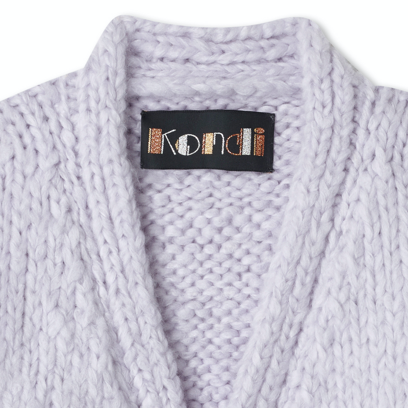 Pre-Order: Cropped Cardigan - Lilac