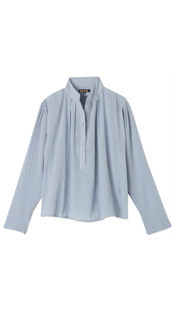 Poet's Blouse - Powder Blue