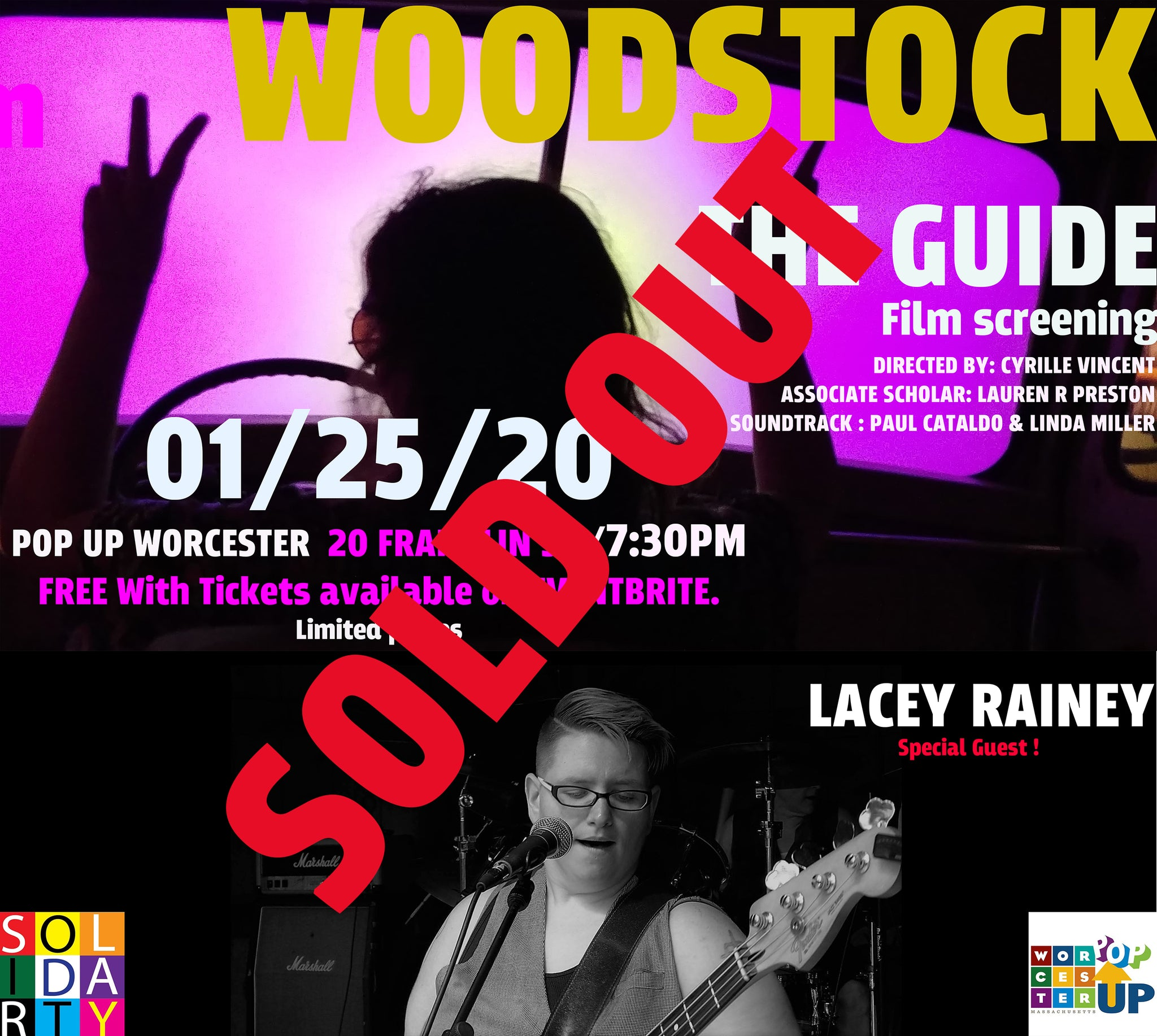 Woodstock : The Guide Film Preview officially Sold Out create Extra  limited number of  tickets for Peace and Love !