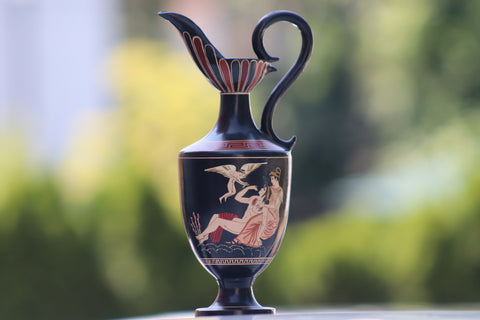Adonis Grecian Antique Vase hand made & Hand Painted +Signed by the artist.