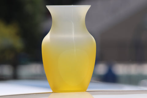 $8 Yellow Glass Vase