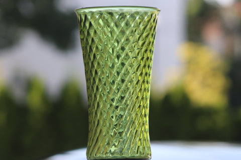$8 Vintage Green multi purpose Glass Vase