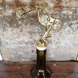 Motorcycle Chopper Trophy Wine Stopper