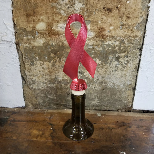 Red Awareness Trophy Wine Stopper