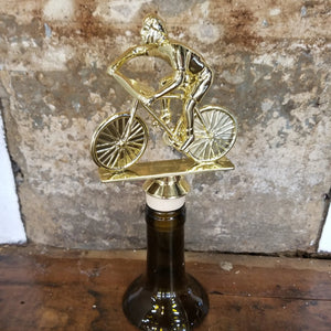 Male Cyclist Trophy Wine Stopper